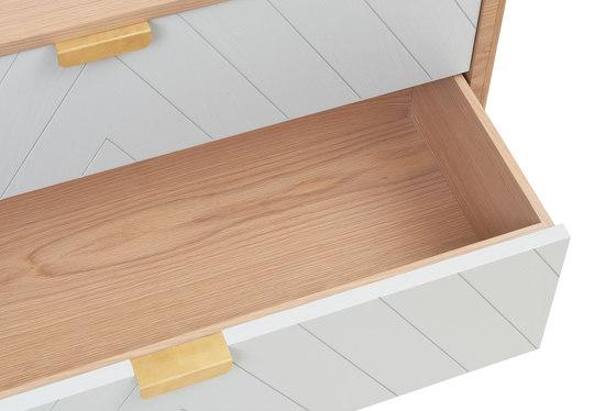 Chest of drawers Marius, light grey de Hartô | Aparadores