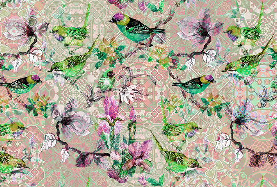 Mosaic Birds 2 de Architects Paper   Revestimientos de paredes / papeles pintados