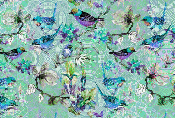 Walls By Patel | Wallpaper Mosaic Birds 3 de Architects Paper | Revestimientos de paredes / papeles pintados