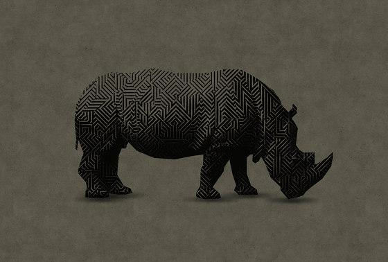 Walls By Patel| Papel Pintado Rhino 1 de Architects Paper | Revestimientos de paredes / papeles pintados