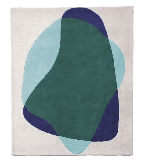 Carpet Serge, shades of green blue by Hartô | Rugs