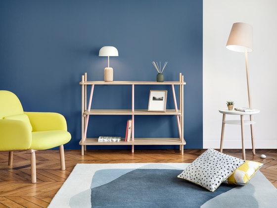 Carpet Serge, shades of grey blue by Hartô | Rugs