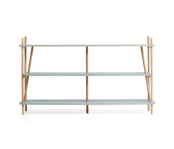 Bookcase Simone 160cm, gradient faded aqua green de Hartô | Estantería
