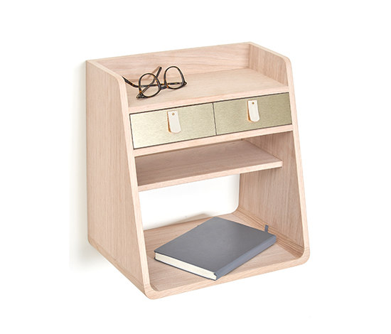 Suzon   Wall mounted storage, brushed brass by Hartô   Shelving