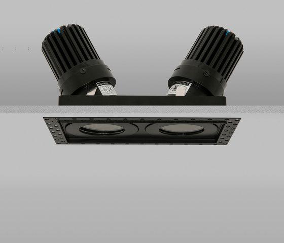 Lighting Basement Washroom Stairs: AQUASQUARE DOUBLE TRIMLESS 50+ BLACK MEDIUM 2700K