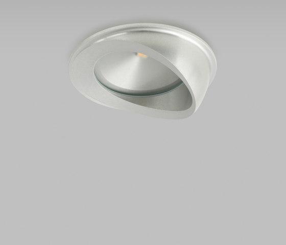 Etta Eyelid Aluminium 2700K de John Cullen Lighting | Plafonniers encastrés
