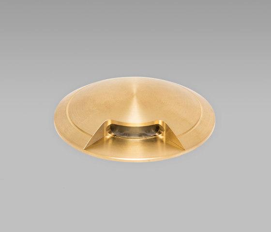 Guida Naval Brass 2700K Single Facet di John Cullen Lighting | Lampade outdoor incasso pavimento