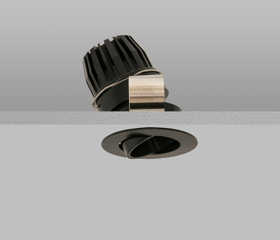Polespring 40 Black Medium 2700K di John Cullen Lighting | Lampade soffitto incasso