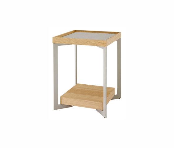 Estampe | Sofa End Table Natural-Finish Sawn Oak / Argile Lacquer by Ligne Roset | Side tables