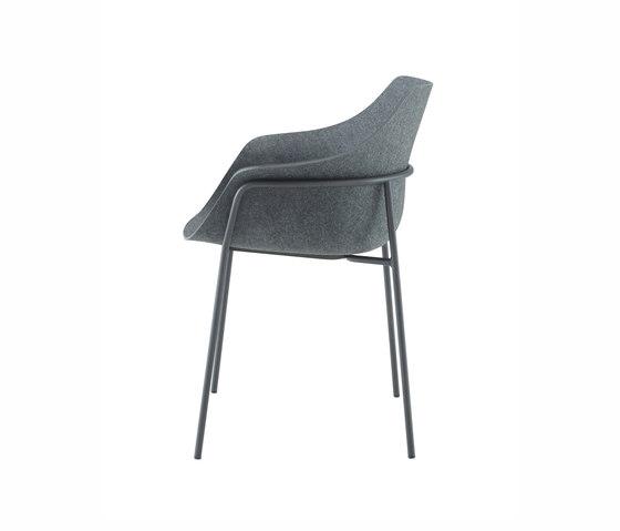 Ettoriano | Bridgestuhl Gestell Metall Anthrazit von Ligne Roset | Stühle