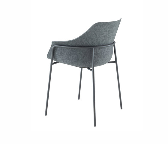 Ettoriano | Carver Chair Anthracite Metal Base by Ligne Roset | Chairs