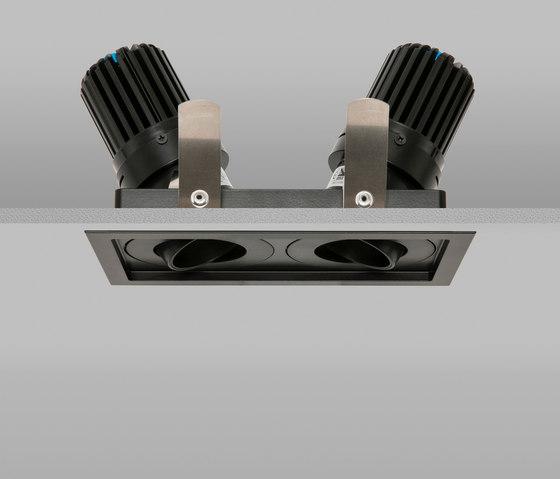Square Double Trim 50+ Black Medium 2700K von John Cullen Lighting   Deckeneinbauleuchten