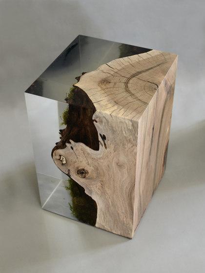 Undergrowth | Stump Stool Walnut di Alcarol | Tavolini alti