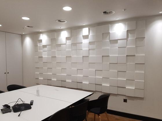 Cubism de Soundtect   Sistemas fonoabsorbentes de pared