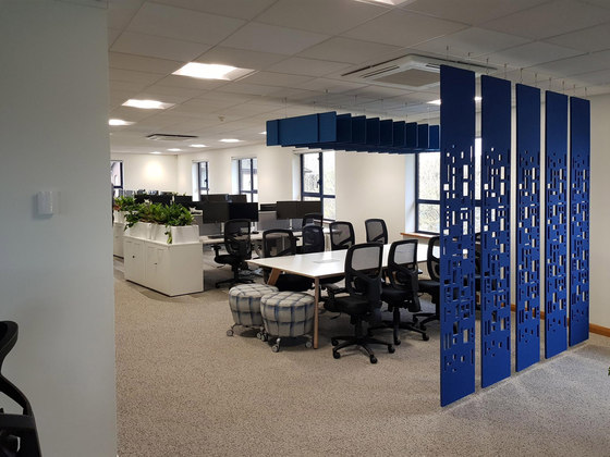 Freestyle - Freestyle Dividers - Acoustic Workplace Dividers - Fins for Office. de Soundtect | Separación de ambientes