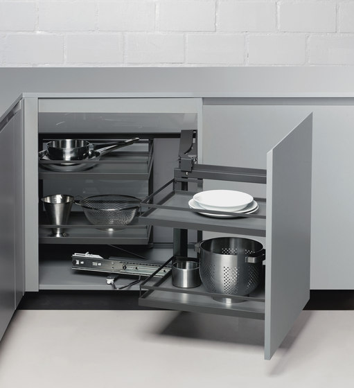 Magic Corner Standard Corner Pull-out by peka-system | Kitchen organization