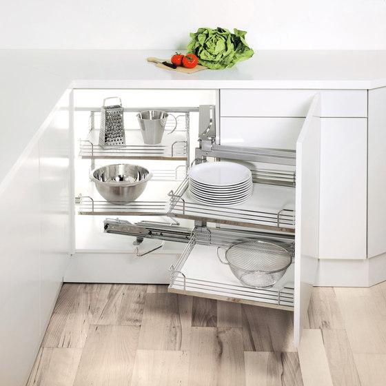 Magic Corner Standard Corner Pull-out by peka-system | Kitchen organization