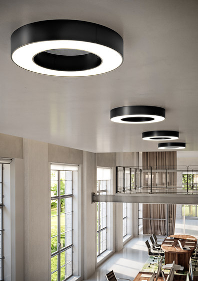 Silver Ring by Panzeri | Ceiling lights