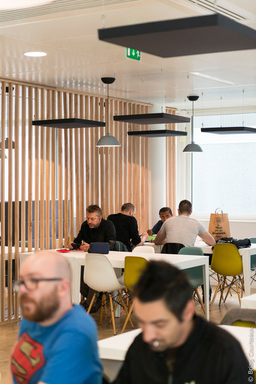 Class Above by Soundtect   Sound absorbing suspended panels