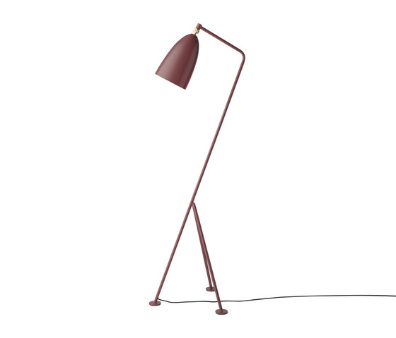 Gräshoppa Floor lamp | Andorra Red by GUBI | Free-standing lights