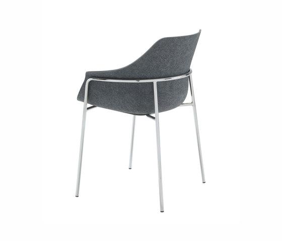 Ettoriano   Bridgestuhl Gestell Metall Verchromt von Ligne Roset   Stühle