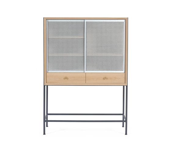 Gabin Cabinet, natural oak and slate grey by Hartô   Sideboards