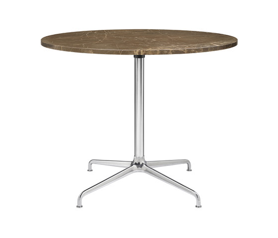 Beetle Dining Table - Round - 4-star Base de GUBI | Mesas comedor