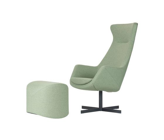 Kinzika L with pouf by SMV Sitz- & Objektmöbel | Armchairs