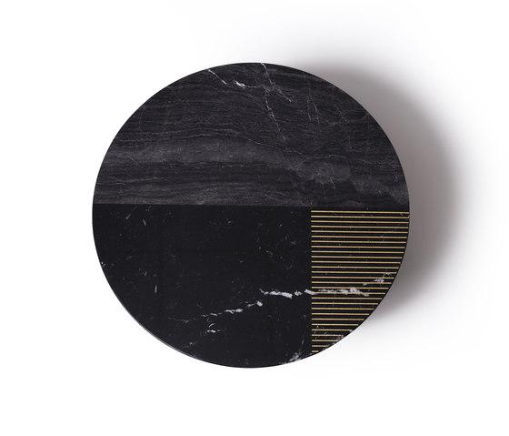 Gold Radius von Alex Mint   Couchtische