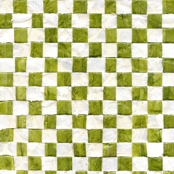 Costa verde | Nacre vichy RM 675 67 di Elitis | Carta parati / tappezzeria