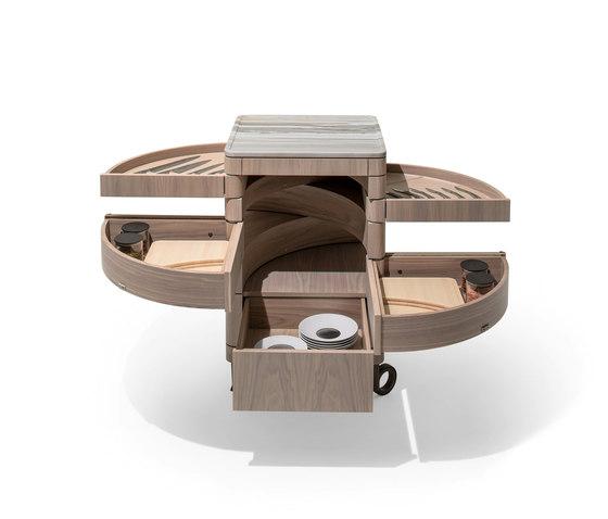 Alfred Trolley by Giorgetti | Kitchen trolleys