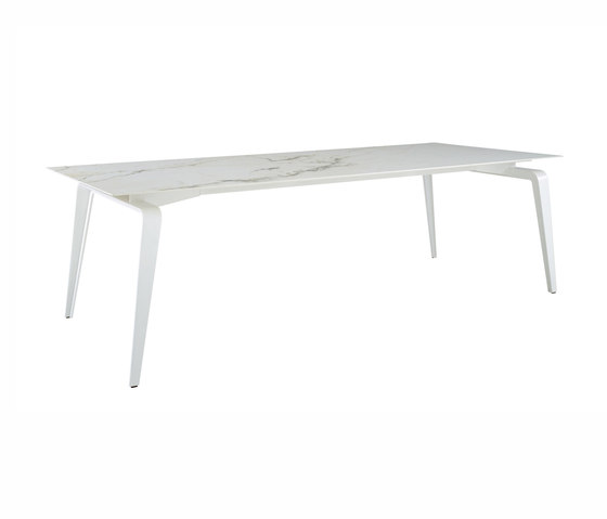 Odessa | Rectangular Dining Table White Lacquered Base by Ligne Roset | Dining tables