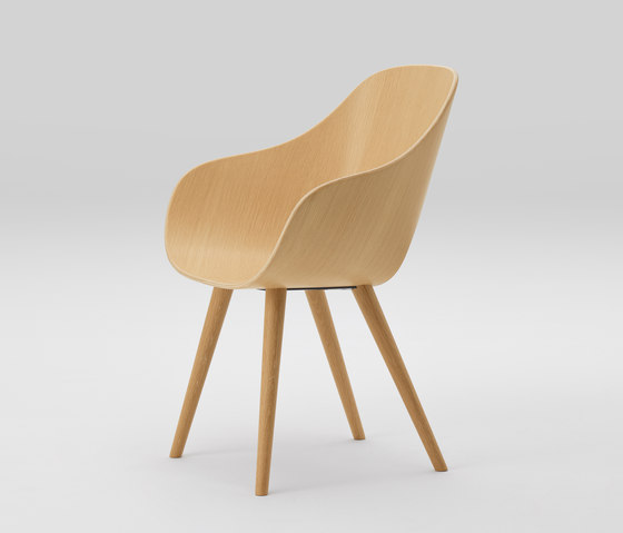 Roundish Armchair (wooden seat) by MARUNI | Chairs