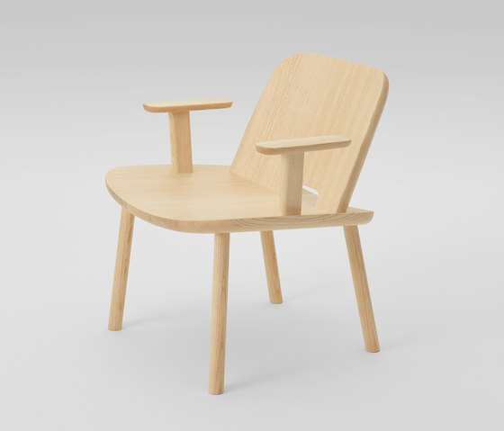 Fugu Lounge chair (with armrests) von MARUNI | Sessel