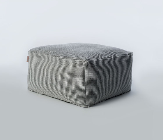 Accessories | Site Soft Checks Outdoor pouf by Warli | Poufs