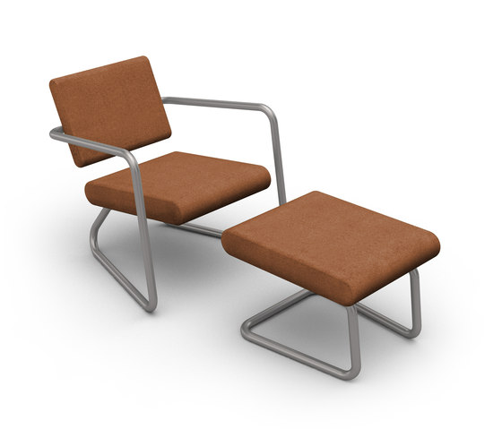 Steeler armchair with ottoman di Lonc | Poltrone