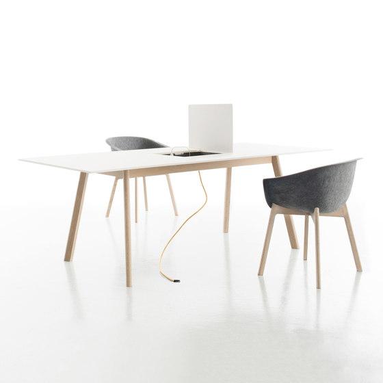 Pad Tisch mit Ausschnitt di conmoto | Scrivanie