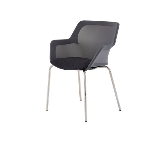 Piccione | Carver Chair Brilliant Chromed Base by Ligne Roset | Chairs