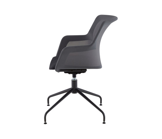 Piccione | Carver Chair Central Pedestal - Anthracite Metal by Ligne Roset | Chairs