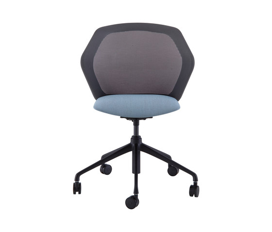 Piccione | Desk Chair Black Base On Castors by Ligne Roset | Chairs