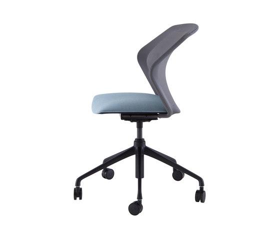 Piccione | Desk Chair Black Base On Castors by Ligne Roset | Chairs