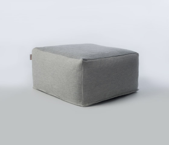 Accessories | Site Soft Stripes Outdoor pouf von Warli | Poufs / Polsterhocker