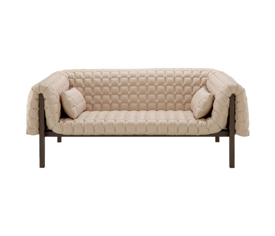 Ruché | Medium Settee Low Back With 2 Lumbar Cushions by Ligne Roset | Sofas