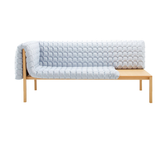 Ruché | 1-Armed Settee Right With Table Surface by Ligne Roset | Sofas