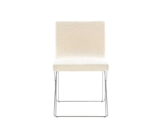 Sala | Chair Wire Mesh-Style Base Chromed by Ligne Roset | Chairs