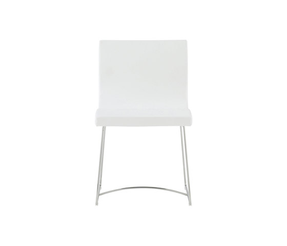 Sala   Chair Chromed Sleigh Feet by Ligne Roset   Chairs