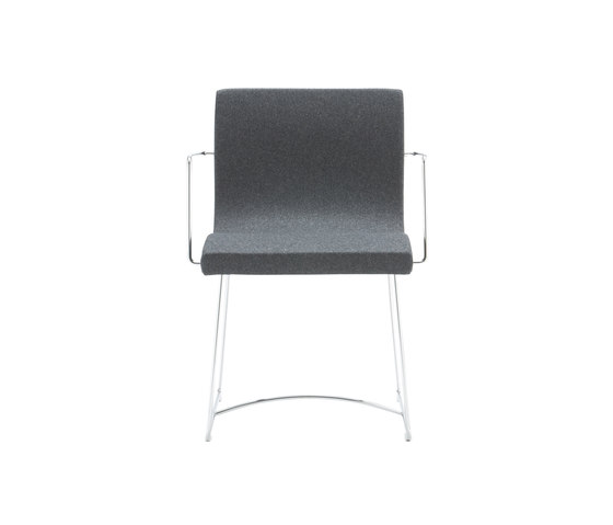 Sala | Carver Chair Chromed Sleigh Feet by Ligne Roset | Chairs