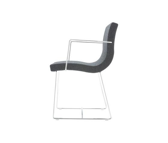 Sala | Bridgestuhl Kufengestell Verchromt von Ligne Roset | Stühle