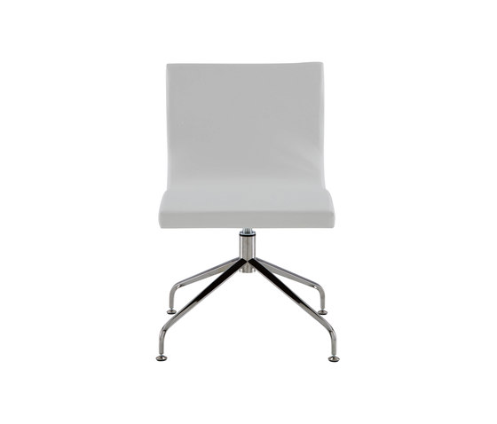 Sala | Desk Chair Central Pedestal - Brilliant Chrome by Ligne Roset | Chairs