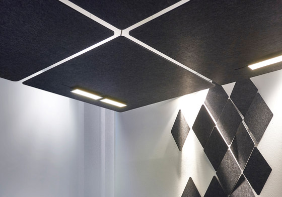 FIBER CEILING de acousticpearls | Paneles de techo fonoabsorbentes